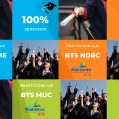 Résultats Sessions BTS 2020 NDRC GPME MUC Groupe Alternance Gap