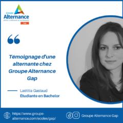 Groupe Alternance Azur Gap témoignage d'une alternante en formation BTS